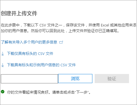 已验证 CSV 文件