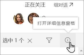 列表的详细信息窗格的屏幕截图
