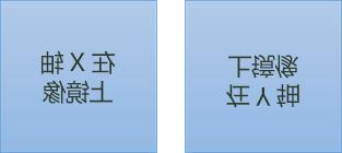 镜像的文本的示例: 第一个是在 x 轴上的旋转 180 度,第二个是 y 轴上的旋转 180 度