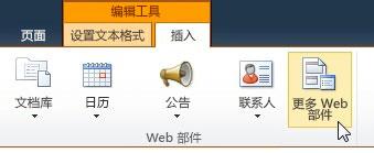 """单击""""其他 Web 部件"""""""