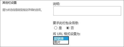 图片/超链接列选项