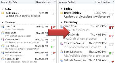 增加邮件列表中的字号的插图