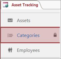 "Access 中已锁定表上显示的""已锁定""图标"