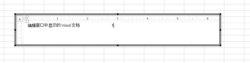 可以直接在 Excel 中编辑嵌入的 Word 文档。