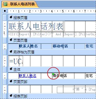 报表包含的文本框中有拼写错误的标识符