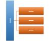 水平多层层次结构 SmartArt 图形布局