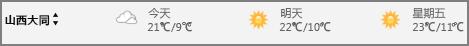 日历中的天气