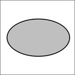 显示一个椭圆形形状。