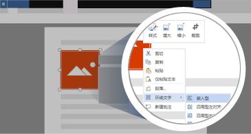 包含所选图像和缩放区域的文档,其中显示用于操纵图像的所有可用选项
