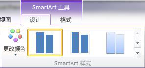 """SmartArt 工具""下""设计""选项卡上的""SmartArt 样式""组"