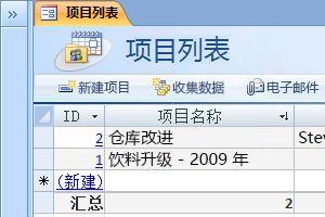 项目数据库模板