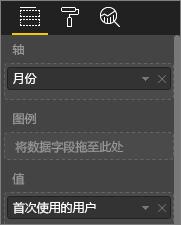 屏幕截图,显示自定义的可视化效果值
