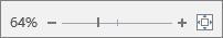 显示用于放大或缩小文本的缩放滑块。