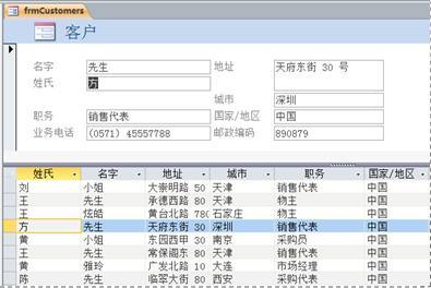 Access 桌面数据库中的分割窗体