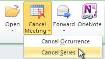 取消在功能区上的序列命令
