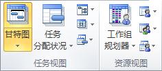 """""""任务视图""""组和""""资源视图""""组图形"""