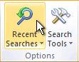 """功能区上的""""最近执行的搜索""""命令"""
