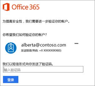 使用 2 步验证登录时,系统将提示你输入代码。