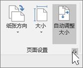 """页面设置工具栏的屏幕截图,选择了""""自动调整大小"""""""