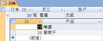 显示带有打开的子数据表的数据表