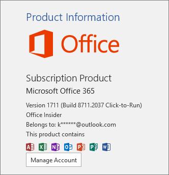 Office 预览体验计划内部版本