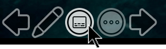 "PowerPoint ""幻灯片放映"" 视图中的 ""切换字幕"" 按钮。"