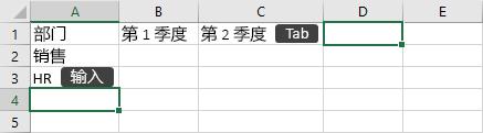 在单元格中输入数据