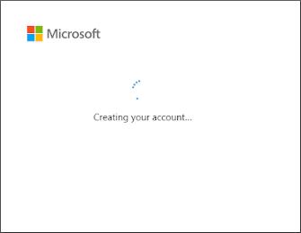 创建您的帐户进度指示器