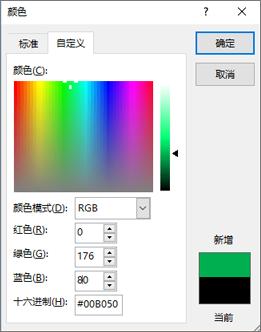 显示自定义颜色