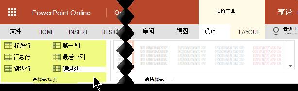 可以向表格中的某些行或列添加底纹样式。