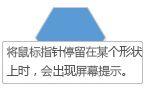 当鼠标指针停留在某个形状时,将显示 Visio 屏幕提示。