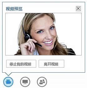 悬停在视频按钮上时显示的选项的屏幕截图
