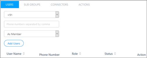 屏幕截图: 将用户添加到 Kaizala 组