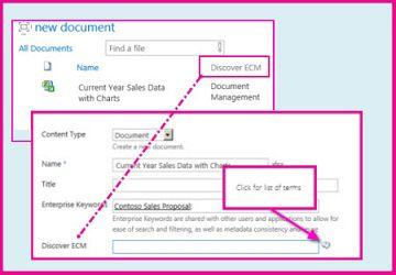 托管元数据栏让用户能够使用文档属性选择要在栏中输入的预定义值。