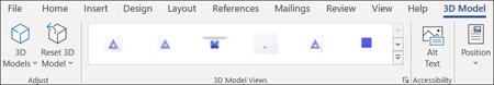 用于编辑 3D 模型的选项卡控件