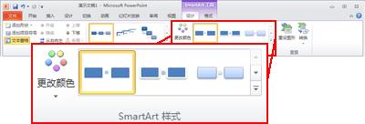 """""""SmartArt 工具""""下的""""设计""""选项卡"""
