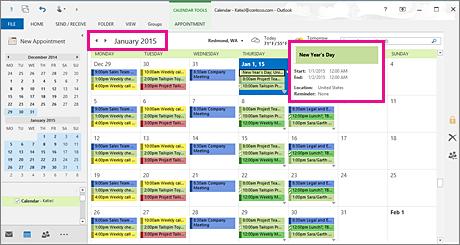 包含月开始日期和美国节假日的月视图 快乐