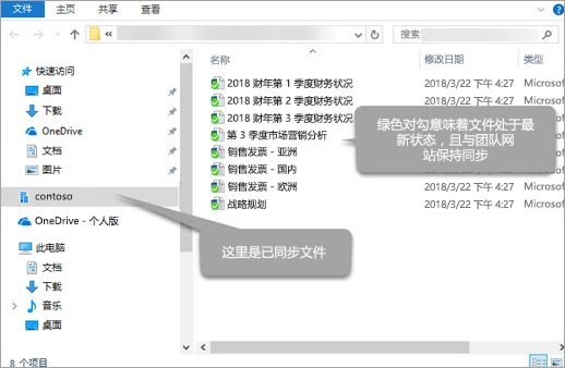 Office 365 SharePoint 同步的 Windows 文件资源管理器