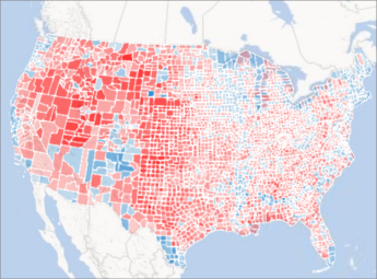 Power Map 中的区域图