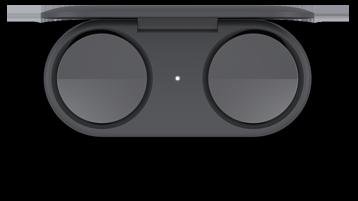 在收费情况下的 Surface Earbuds