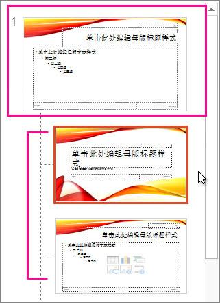 幻灯片母版和两个版式