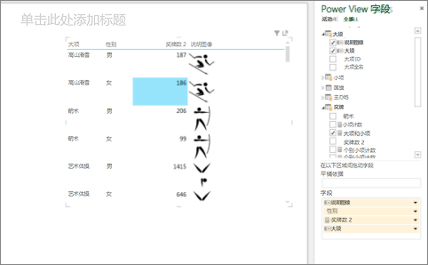 创建 Power View 表