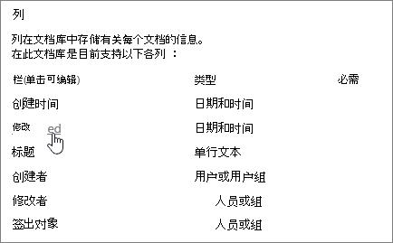 选择库设置显示列,使其无法选定列部分。