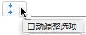 占位符填入文本时,将显示自动调整选项工具