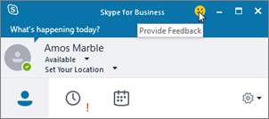 Skype for Business 客户端报告。