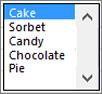 示例列表框