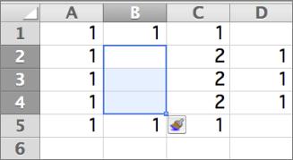 插入单元 格 右 Shift 向下或右侧的选定的单元 格