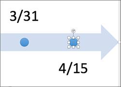 单击日程表中的一个形状