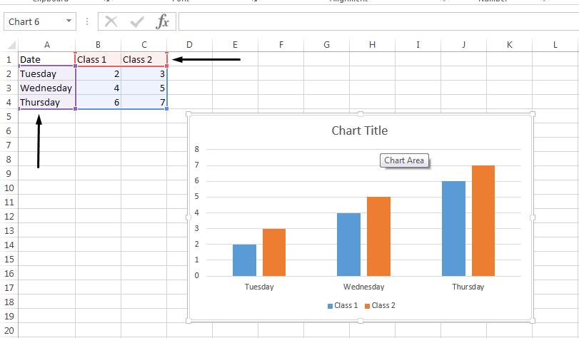 选择工作簿中包含要更改的图例名称的单元格。