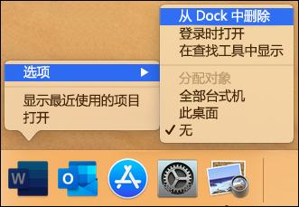 从 Dock 中删除